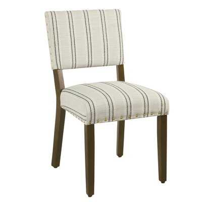 Camilo Stripe Upholstered Dining Chair (Set of 2) - Wayfair