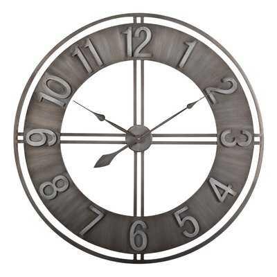 "Oversized Industrial Loft Metal 30"" Wall Clock - Wayfair"
