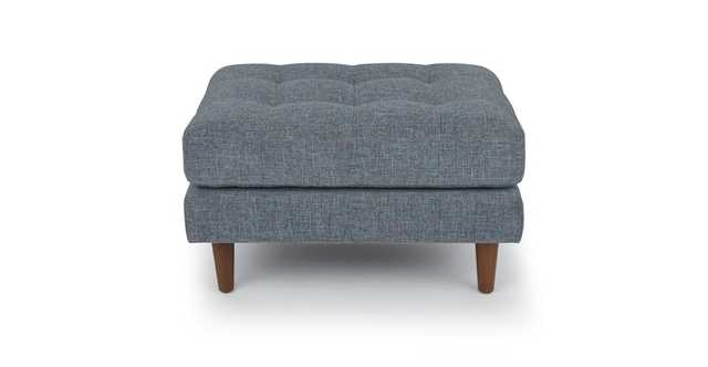 Sven Aqua Tweed Ottoman - Article