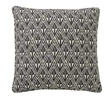 "Mitzi Print Pillow Cover, Charcoal Multi, 20"" - Pottery Barn"