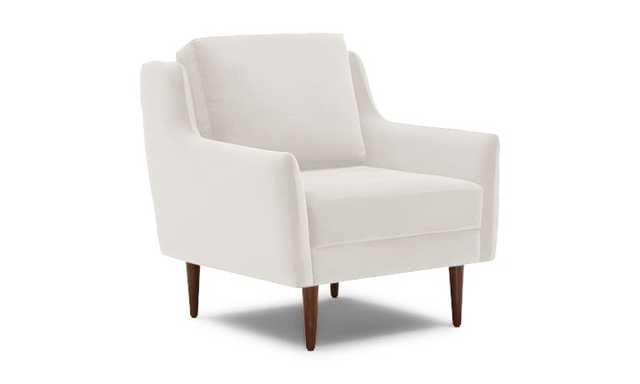 White Bell Mid Century Modern Chair - Merit Snow - Mocha - Joybird