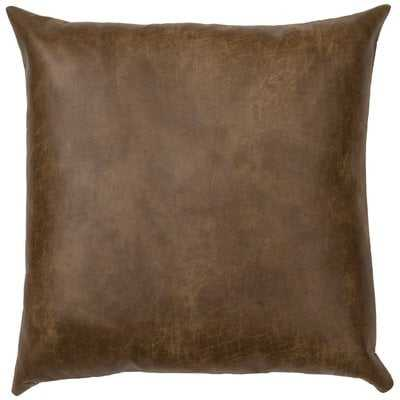 Tynan Faux Leather Euro Pillow - Wayfair