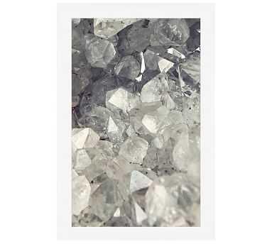 Crystal Cluster Lupen Grainne 42x28 Wood Gallery White Mat - Pottery Barn