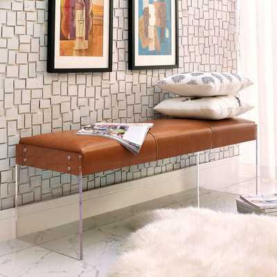 Lawson Leather Bench - Wayfair