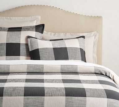 Bryce Buffalo Check Duvet Cover, Full/Queen, Charcoal - Pottery Barn