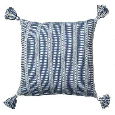 LR07310 Blue 18 in. x 18 in. Decorative Pillow - Home Depot