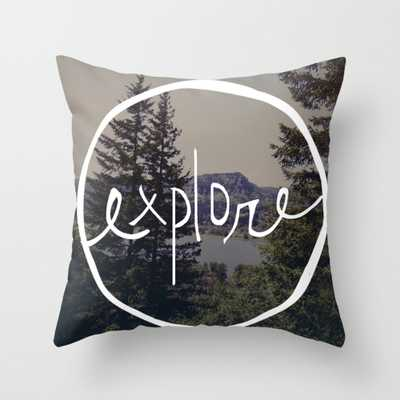 """Explore Oregon Throw Pillow - Outdoor Cover (16"""" x 16"""") with pillow insert by Floresimagespdx - Society6"""
