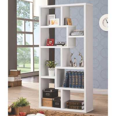 Livingston White Bookcase - Home Depot