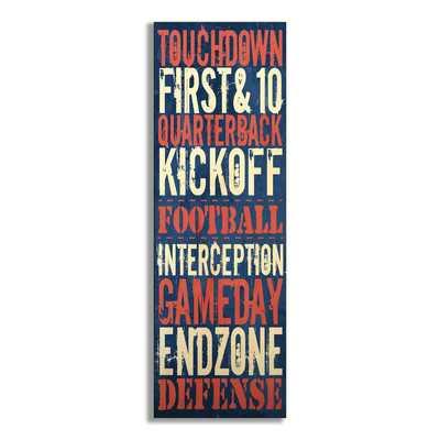 Kleckner Touchdown Football Textual Art Wall Plaque - Wayfair