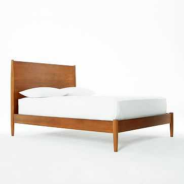 Mid-Century Bed Frame, King, Acorn - West Elm