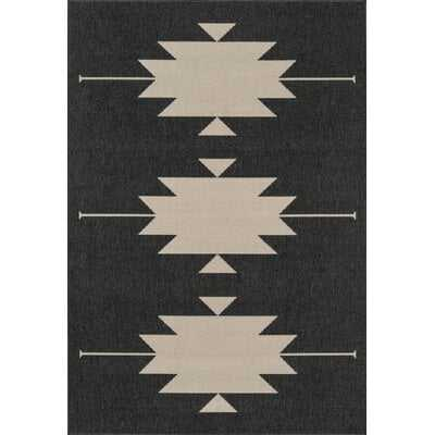 Marlatt Charcoal Indoor/Outdoor Area Rug - AllModern