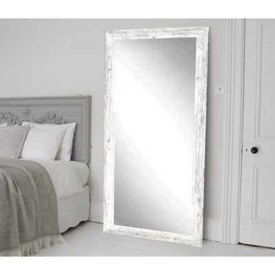 Brandtworks Distressed White Barnwood Full Length Floor Wall Mirror - Home Depot