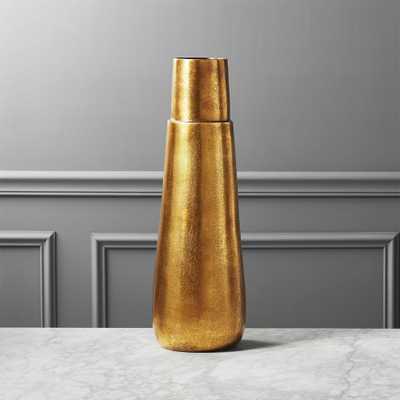 Malta Tall Brass Vase - CB2