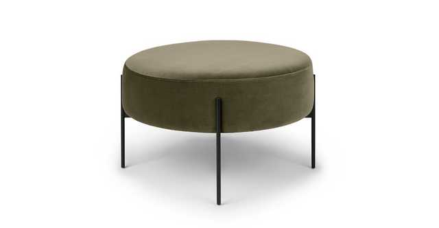 Macca Juniper Green Ottoman - Article