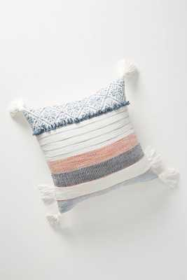 """Rosewood Pillow - Blue - poly fill - 18""""x18"""" - Anthropologie"""