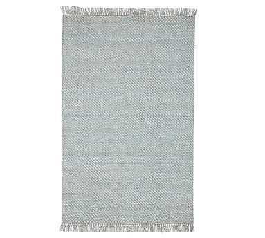 Alina Synthetic Rug, 5x8', Porcelain Blue - Pottery Barn
