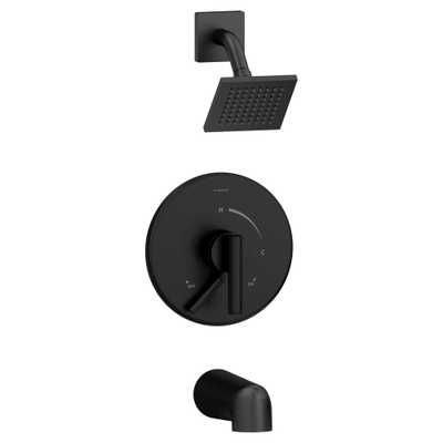 Symmons Dia Single-Handle 1-Spray Tub and Shower Faucet in Matte Black (Valve Included) - Home Depot