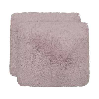 Alexus 18 in x 18 in. Dusty Lilac Pillow (2-Pack) - Home Depot