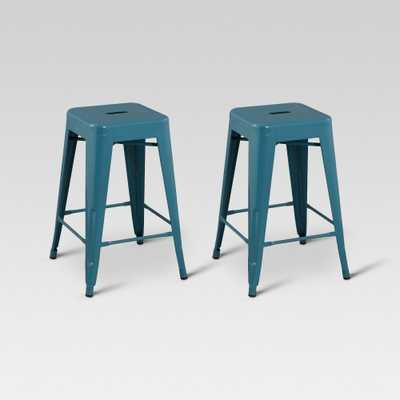 Carlisle 24 Metal Counter Stool - Teal (Blue) (Set of 2) - Threshold - Target