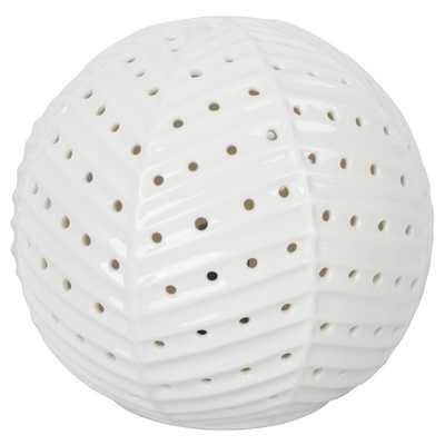 Herringbone Sphere Nightlight - Pillowfort, White - Target