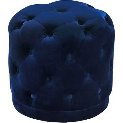 Navy Bonifacio Tufted Pouf - Wayfair