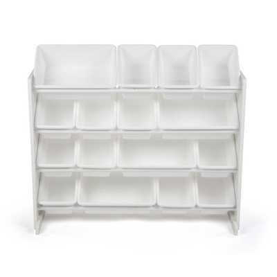 Tot Tutors Cambridge White/White Super-Sized Toy Organizer with 16-Bins - Home Depot