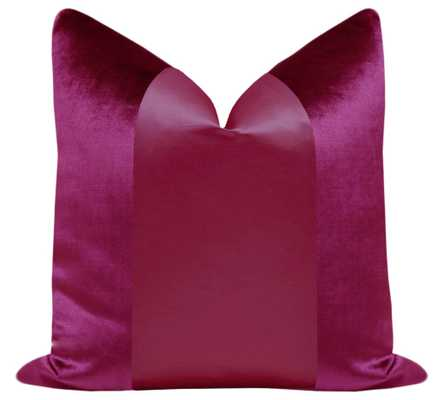 "PANEL Monochromatic :: Faux Silk Velvet // Magenta - 18"" X 18"" - Little Design Company"