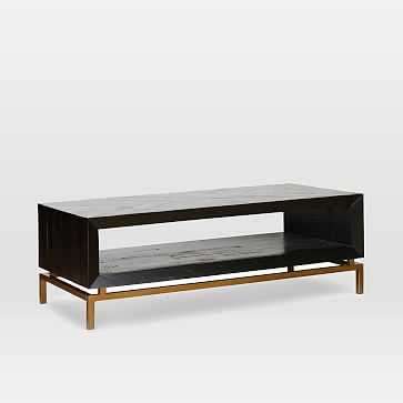 Alexa Coffee Table, Black - West Elm