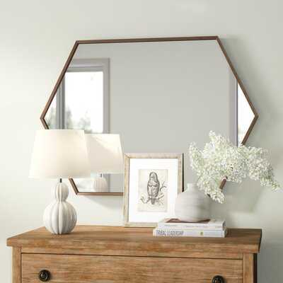 Zaliki Mid Century Hexagon Accent Mirror - Wayfair