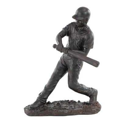 Bullen Modern Contemporary Hitting Baseball Player Figurine - Wayfair
