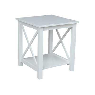 Hampton Pure White End Table, Bright White - Home Depot