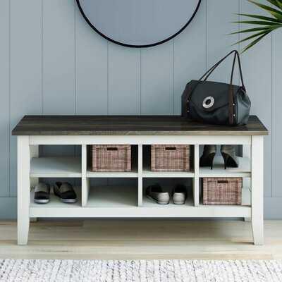 Lorraine Cubby Storage Bench - Wayfair