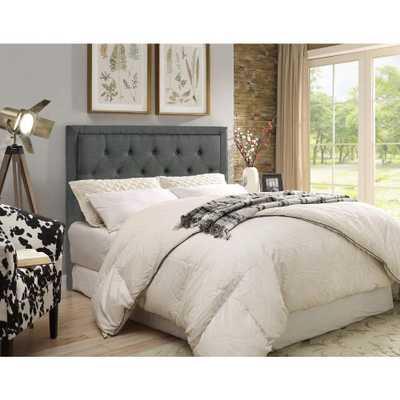 Clayton Charcoal (Grey) Full/Queen Headboard - Home Depot