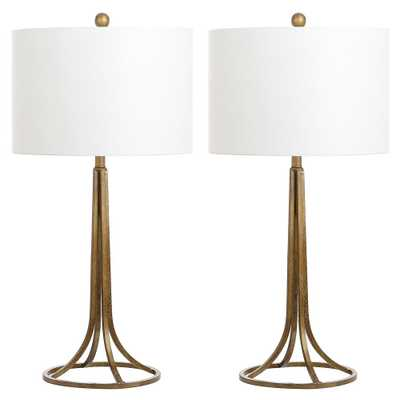 Safavieh Mckenna 30 in. Antique Bronze Table Lamp (Set of 2) - Home Depot