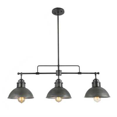 LNC Sikan 3-Light Black Kitchen Island Chandelier - Home Depot