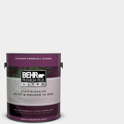 BEHR Premium Plus Ultra 1 gal. #pwn-53 White Mink Eggshell Enamel Interior Paint and Primer in One, Whites - Home Depot