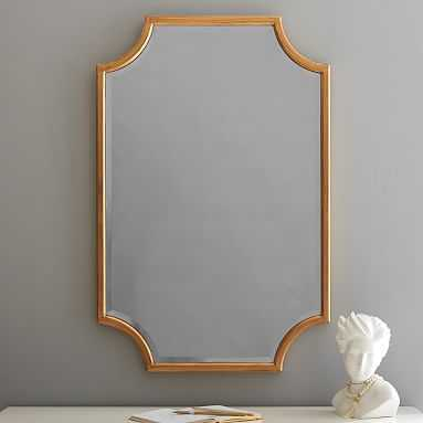 "Scallop Gold Leaf Mirror, 24""x36"" - Pottery Barn Teen"