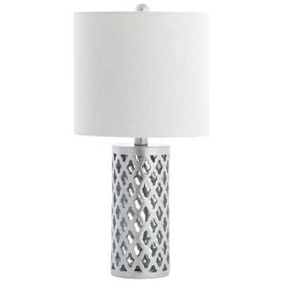 Safavieh Rorie 21 in. Silver Table Lamp - Home Depot