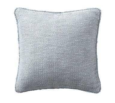 "Duskin Textured Pillow, 20"", Chateau Blue - Pottery Barn"