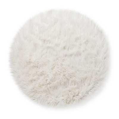 Faux Fur Rug (3' Round) White - Pillowfort - Target