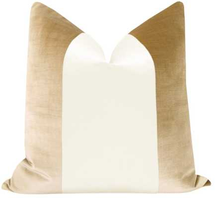"PANEL :: Faux Silk Velvet // Champagne + Alabaster - 22"" X 22"" - Little Design Company"