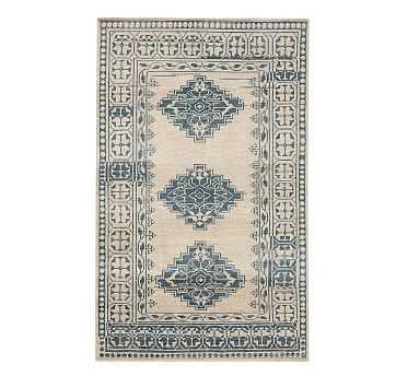 Jaareh Hand Knotted Rug, 8x10', Blue Multi - Pottery Barn