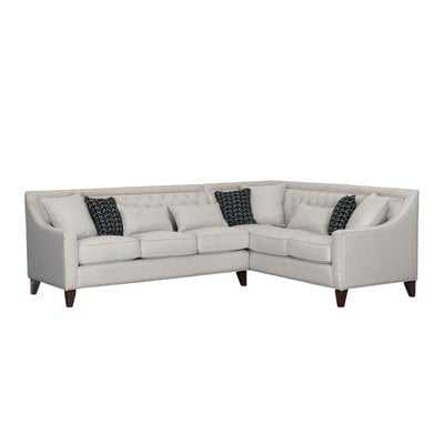 Zivah Solid L-Shaped Sectional - Wayfair