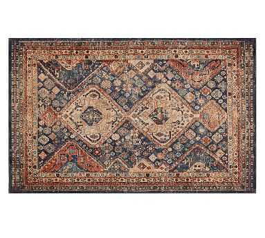 Mahalia Printed Rug, 8x10, Blue Multi - Pottery Barn