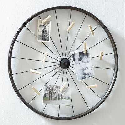 Millanocket Metal Wheel Photo Holder Wall Decor - Birch Lane