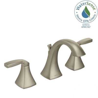 MOEN Voss 8 in. Widespread 2-Handle High-Arc Bathroom Faucet Trim Kit in Brushed Nickel (Valve Not Included) - Home Depot