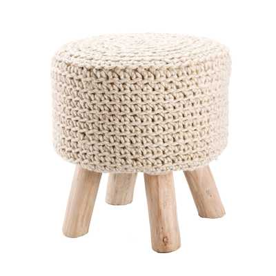 Montana Knitted Cream Stool - Collective Weavers
