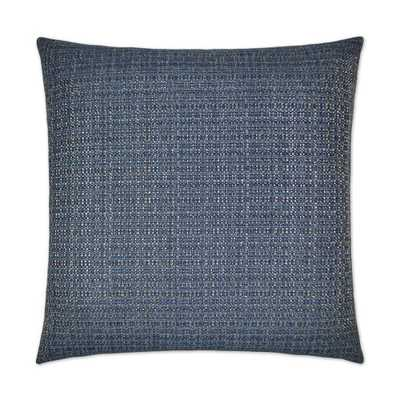Dv Kap Jackie-O Denim (Blue) Feather Down 24 in. x 24 in. Decorative Throw Pillow - Home Depot