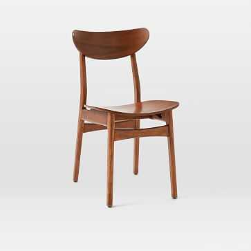 Classic Cafe Dining Chair, Walnut, Set of 4 - West Elm