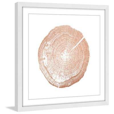 'Log Cutout Rose Gold' by Amanda Greenwood Framed Painting Print - Wayfair